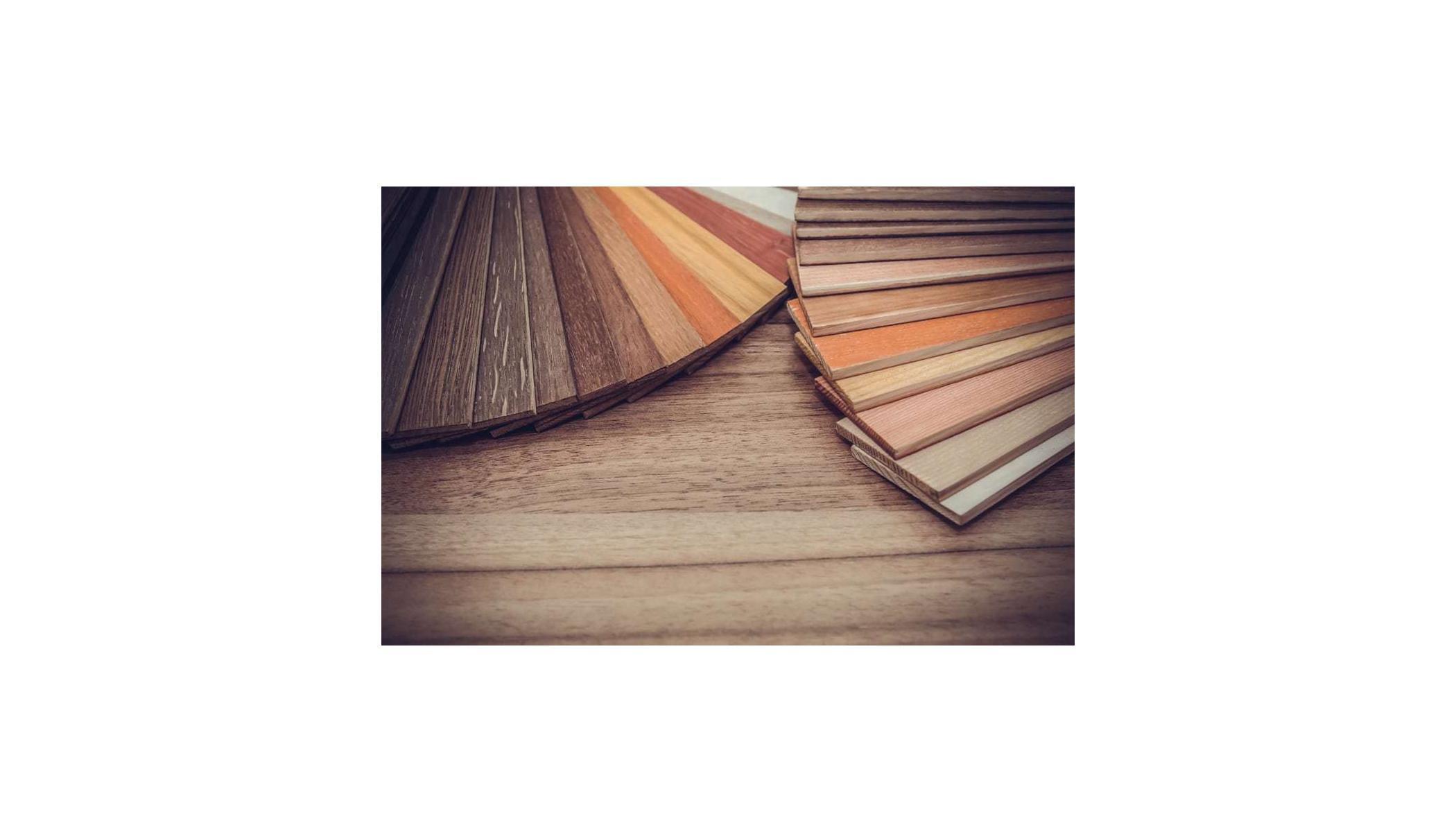 A variety of hardwood floors.