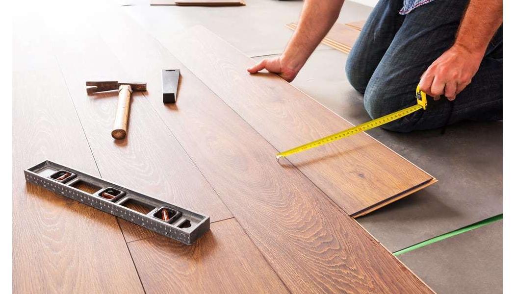 wood planks being measured