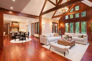 hardwood floors in a home