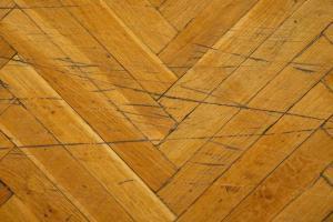 Hardwood floor with scratches