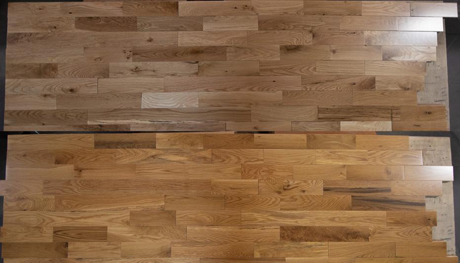 Red Label Solid Hardwood Oak Natural & Butterscotch Display