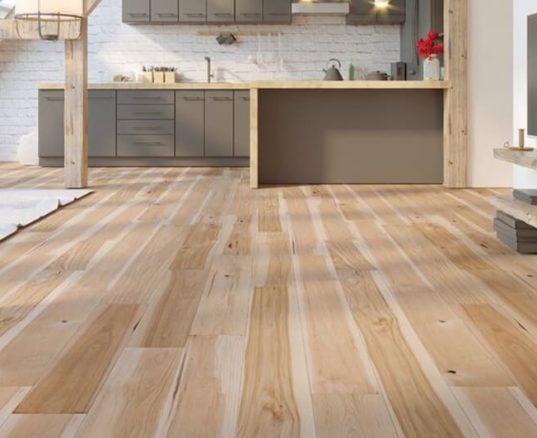 Hickory Hardwood Flooring Living Room Display