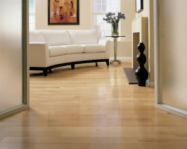 Appalachian Maple Natural floor hallway to living room