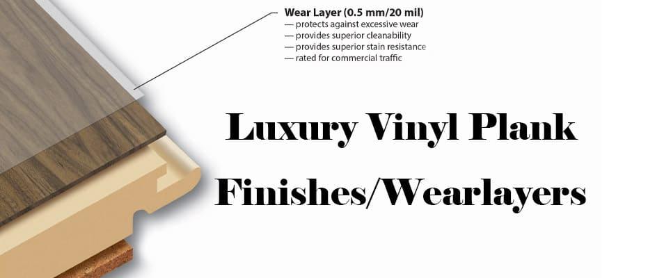 Luxury Vinyl Plank Wear Layer Construction Photo