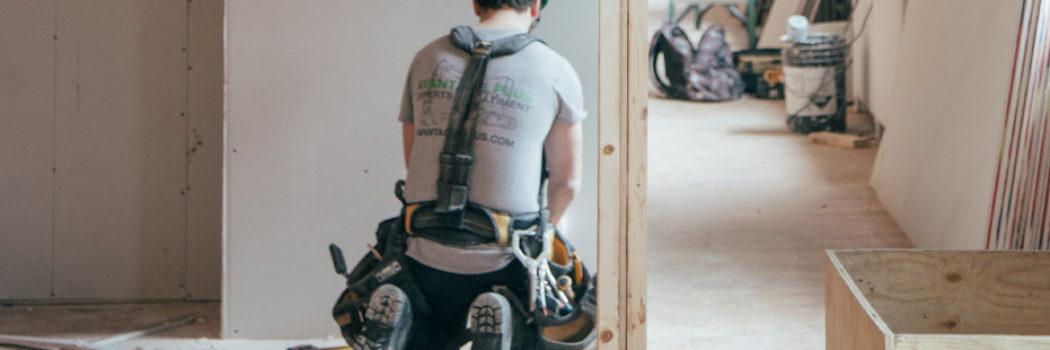 house flipper installing flooring option for renovation