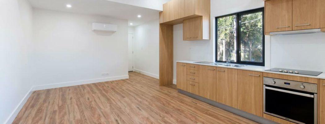hardwood floor in a rental property