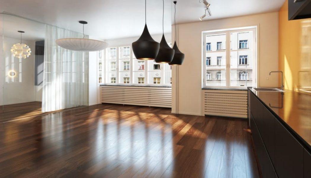 engineered hardwood room scene in apartment